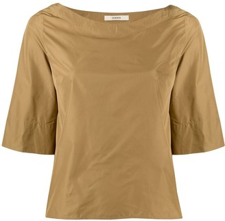 Odeeh Crepe Effect Bell Sleeve Top
