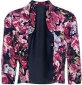 Boohoo Macy Rose Print Chiffon Back Blazer
