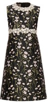 Giambattista Valli Daisies-embroidered sleeveless twill dress