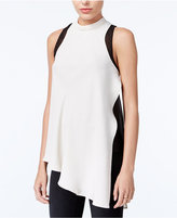 Rachel Roy Asymmetrical Colorblocked Top