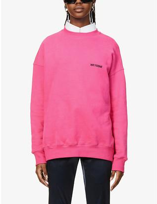 we11done Logo-embroidered cotton-blend sweatshirt