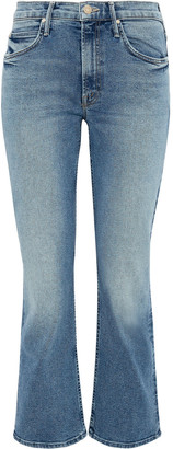 Mother The Dutchie Faded Mid-rise Kick-flare Jeans