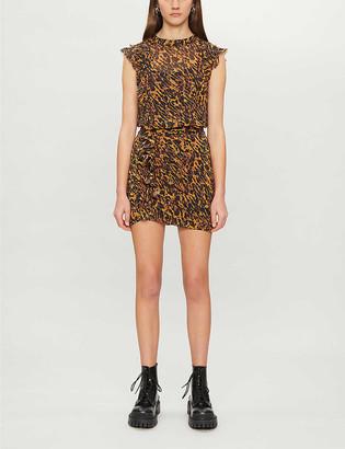 AllSaints Hali Ambient animal-print mini dress