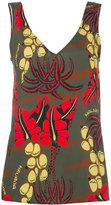 P.A.R.O.S.H. floral print tank - women - Silk/Spandex/Elastane - S