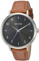 Nixon Women's 'Arrow' Quartz Metal and Leather Automatic Watch, Color:Brown (Model: A1091019-00)