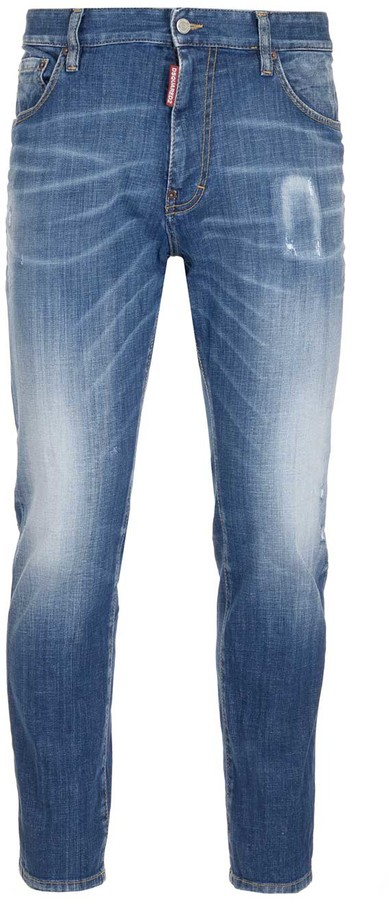 DSQUARED2 Faded Skinny Jeans