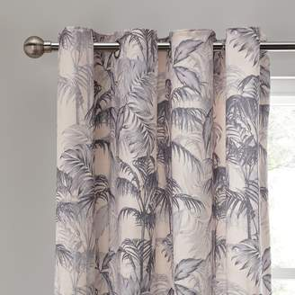 Argos Home Palm Luxe Lined Eyelet Curtains