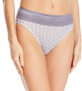 Warner's Women's No Pinching. No Problems. Cotton with Lace Hi-Cut Brief