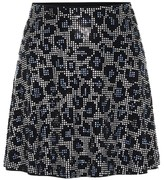 Adam Selman Embellished leopard-print miniskirt
