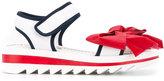 Simonetta Teen bow sandals - kids - Goat Skin/Leather/rubber - 37