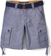 Beverly Hills Polo Club Light Blue Chambray Belted Cargo Shorts - Toddler & Boys