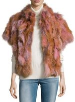 Pologeorgis Fox Fur Batwing Vest, Blush
