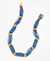 Brooks Brothers Lapis Lazuli and Tiger's Eye Necklace