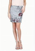 Select Fashion Fashion Womens Grey Floral Spacedye Mini Skirt - size 8