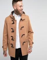 Asos Wool Mix Duffle Coat In Camel