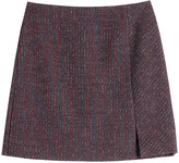Carven Tweed Mini Skirt with Wool