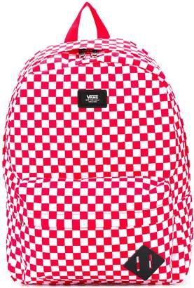 Vans check-print branded backpack