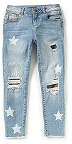 Miss Me Girls Big Girls 7-16 Star-Print Camo Detailed Jeans