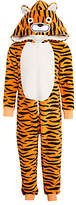 John Lewis Children's Tiger Onesie, Orange