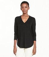 Lauren Ralph Lauren Silk-Blend V-Neck Shirttail Hem Sweater
