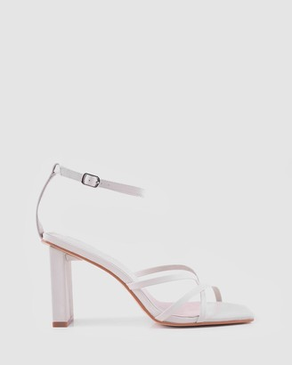 Sol Sana Women's White Strappy sandals - Maya Heels - Size One Size, 39 at The Iconic