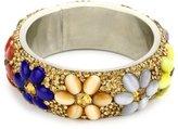 Chamak by Priya Kakkar Multi Color Glass Floral Beads Bangle Bracelet