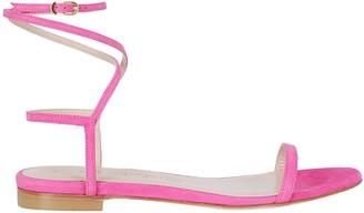 Stuart Weitzman Strap Flat Sandals