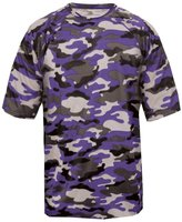 Badger Sport Adult Unisex Short Sleeve Camo Tee Shirt - BD4181 L