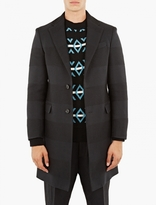 Raf Simons Black Contrast Hooped Senior Coat