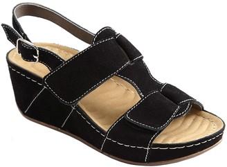 David Tate Wave Tech Footbed Casual Sandals - Reba