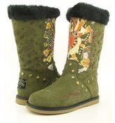 Ed Hardy Bootstrap Green New Boots Shoes Womens 5