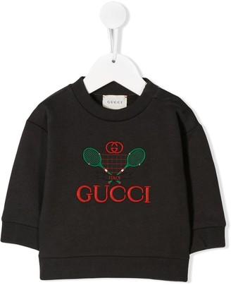 Gucci Kids baby sweatshirt with tennis