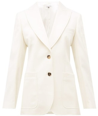 Bella Freud Saint James Wool Cavalry-twill Blazer - Womens - White