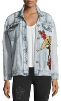 True Religion Distressed Denim Trucker Jacket, Indigo