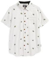 O'Neill Boy's Brees Floral Print Woven Shirt