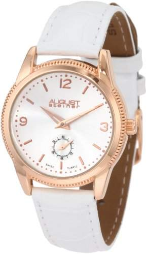 August Steiner Women's ASA821RG Swiss Quartz Classic Dress Strap Watch