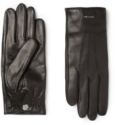 Prada Cashmere-Lined Leather Gloves