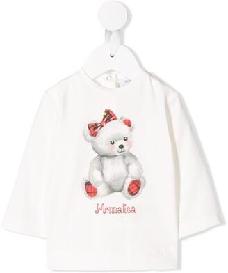MonnaLisa Teddy Bear Print Top