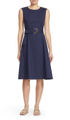Lafayette 148 New York Leslie Sleeveless Belted A-Line Dress