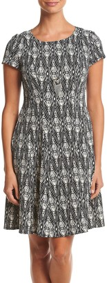 Amy Byer Women's Printed Dress with Necklace