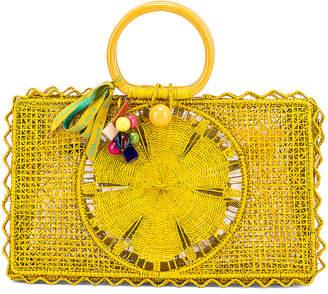 Silvia Tcherassi for FWRD Riomar Keychain Bag in Yellow | FWRD