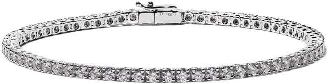De Beers 18kt white gold Eternity Line diamond bracelet