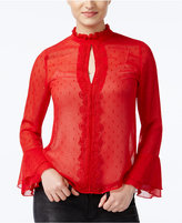 XOXO Juniors' Sheer Ruffled Blouse