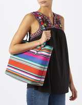 Monsoon Savannah Printed Canvas Shopper Bag