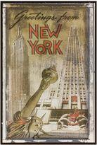 Bed Bath & Beyond New York Greetings Postcard on Box Wall Art