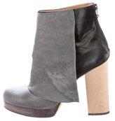 VPL Suede Platform Ankle Boots