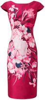 Jacques Vert Josephine Print Shantung Dress