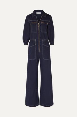 L.F. Markey Dante Cotton-drill Jumpsuit - Midnight blue