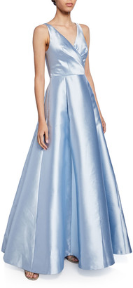 Sachin + Babi Rae Crossover Fit-&-Flare Ball Gown