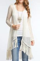 Ya Los Angeles Chevron Lace Cardigan
